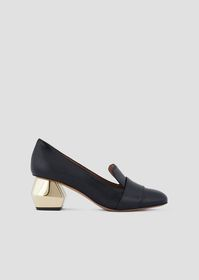 Armani Nappa leather pumps with chrome-plated hexa