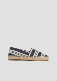 Armani Espadrilles in striped canvas with straw ed