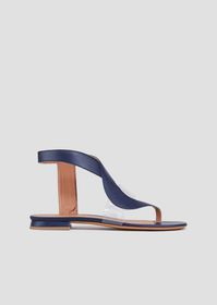 Armani Flat thong sandals in leather and vinyl