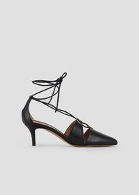 Armani Cherie nappa leather pumps with laced ankle