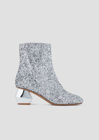 Armani Glitter ankle boots with chrome-plated, hex