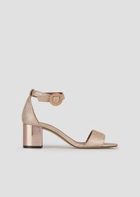 Armani High-heeled sandals in printed leather with