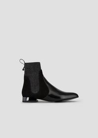 Armani Abraded leather Beatle boots with suede and