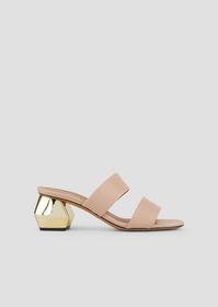 Armani Sandals in nappa leather with two bands and