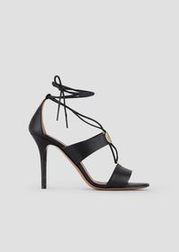 Armani High heel sandals in nappa leather with met