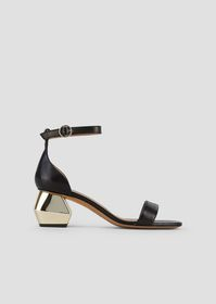 Armani Sandals in nappa leather with ankle strap a