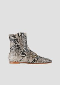 Armani Booties in python-print leather with strap