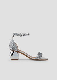 Armani Sandals in glittered nappa leather with ank