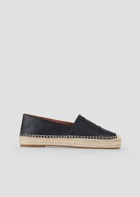 Armani Leather espadrilles with EA patches