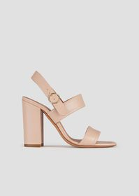 Armani Sandals with a double band in leather and v