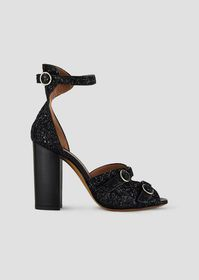 Armani Sandals in glitter nappa leather with metal