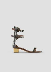 Armani Sandals in baby batik viper leather with ch
