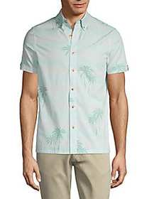 Ben Sherman Striped & Palm Tree-Print Button-Down