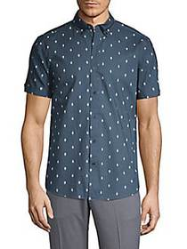 Ben Sherman Printed Short-Sleeve Button-Down Shirt