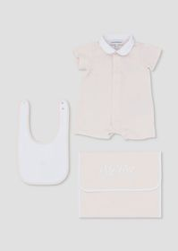 Armani Gift set with romper suit, bib and pouch