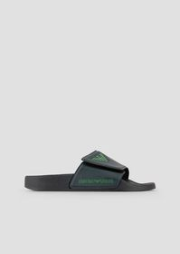 Armani Rubber sliders with logo detail