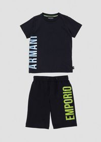 Armani T-shirt and Bermuda shorts outfit in cotton
