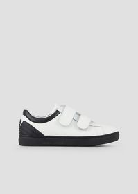 Armani Leather sneakers with eagle logo on the bac
