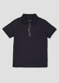 Armani Cotton polo shirt with taped zip