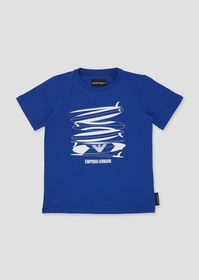 Armani Jersey T-shirt with surf print