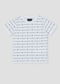 Armani Pure cotton T-shirt with all-over logo