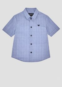 Armani Short-sleeved shirt in Prince of Wales fabr
