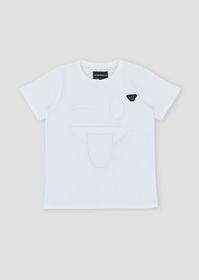 Armani Jersey T-shirt with vinyl smiley-face appli