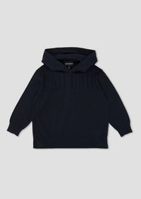Armani Sweater with hood and embossed logo