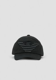 Armani Baseball cap with embossed, embroidered log