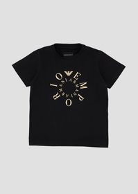 Armani Jersey T-shirt with contrasting logo