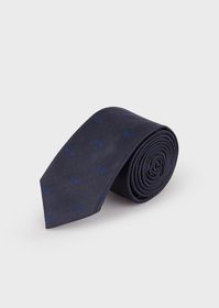 Armani Silk tie with small embroidered eagles