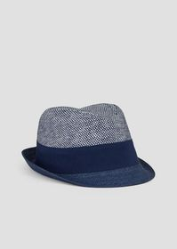 Armani Bucket hat in straw with matching ribbon