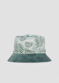 Armani Reversible bucket hat with pattern and soli