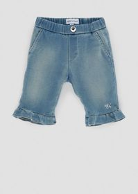 Armani Jeans in light denim with ruches on the hem