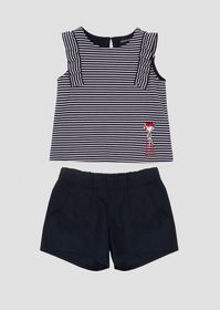 Armani Outfit in jersey with top and striped short