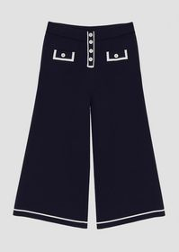 Armani Knitted palazzo pants with contrast trim an