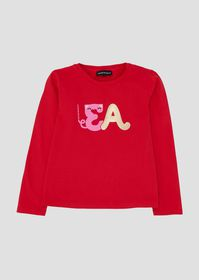 Armani Sweatshirt in stretch cotton with colorful
