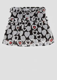Armani Crêpe skirt with all-over heart pattern and