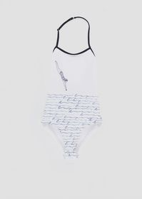 Armani One-piece swimsuit with dive print and all-