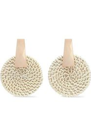 KENNETH JAY LANE Resin and rattan earrings