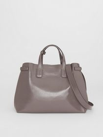 Burberry The Medium Soft Leather Banner in Sepia G
