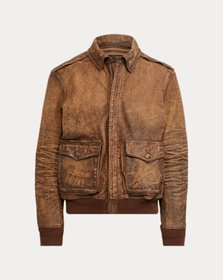 Ralph Lauren Leather Bomber Jacket