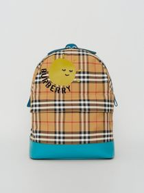 Burberry Sun Print Vintage Check Nylon Backpack in