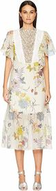 See by Chloe Floral & Lace Midi Dress