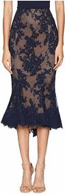 Marchesa Lace Fit and Flare Pencil Skirt w/ Lace S