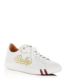 Bally - Women's Wiera Embroidered Leather Lace-Up