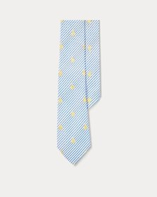 Ralph Lauren Sailboat Seersucker Tie