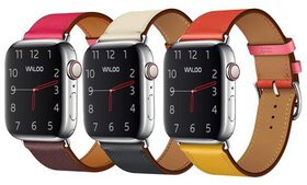 Waloo 2-Tone Leather Bands for Apple Watch Series
