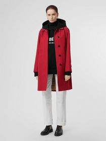 Burberry The Camden Car Coat in Parade Red