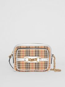 Burberry The 1983 Check Link Camera Bag in Silver